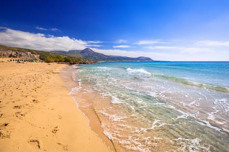Prachtig Falassarna strand op Kreta, Griekenland