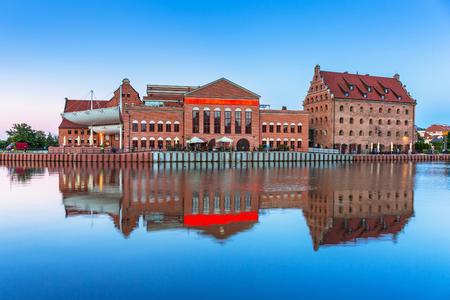Old town of Gdansk at Motlawa river, Poland