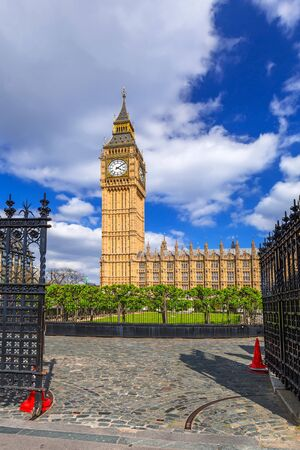 Big Ben and the Palace of Westminster, landmark of London, UK Archivio Fotografico