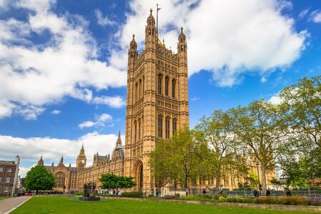 lords: Architecture of the Westminster Palace in London, UK Stock Photo