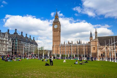 LONDON, ENGLAND - May 14, 2016: Big Ben and the Palace of Westminster in London, UK. The Palace of Westminster commonly known as the Houses of Parliament is the home of the Parliament of England. Editorial