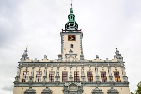 Arquitectura del ayuntamiento en Chelmno, Polonia Foto de archivo - 82118146