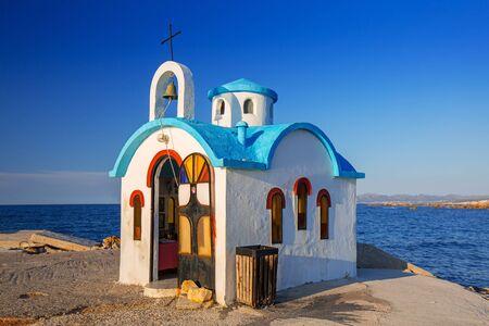 Beautiful chapel on the coast of Kato Galatas on Crete, Greece