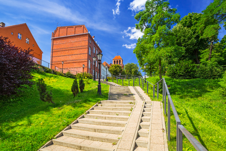 Architecture of the old town of Tczew, Poland Stock Photo