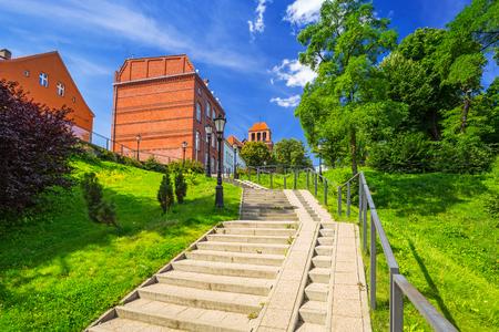 Architettura del centro storico di Tczew, Polonia