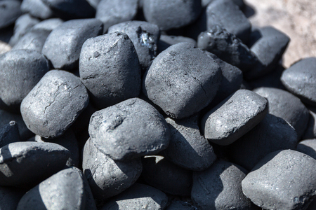 Charcoal briquettes for barbecue Stok Fotoğraf