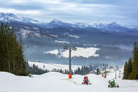 Ski slope in Tatra mountains, Poland