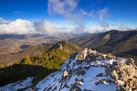Tatra mountains view from the top of Sarnia Skala peak, Poland Stock Photo