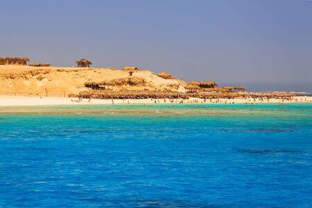 Lagoon of the Red Sea at Mahmya island, Egypt Stock Photo