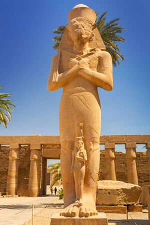 Statue of Ramesses II in Karnak temple in Luxor, Egypt Stock Photo