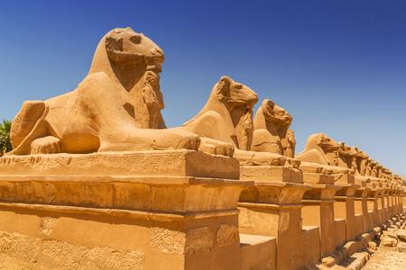 Ancient architecture of Karnak temple in Luxor, Egypt Reklamní fotografie - 93331427