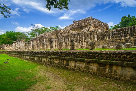 The Temple of Thousand Warriors in Chichen Itza, Mexico Stock Photo