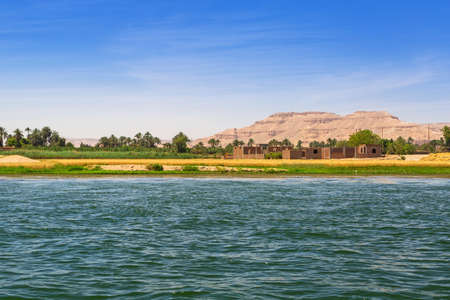Nile river scenery near Luxor, Egypt