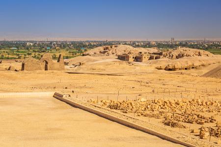 Complex of mortuary temples of Deir el-Bahari near Luxor, Egypt Stock Photo