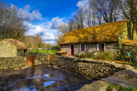 Old cottage house in Co. Clare, Ireland