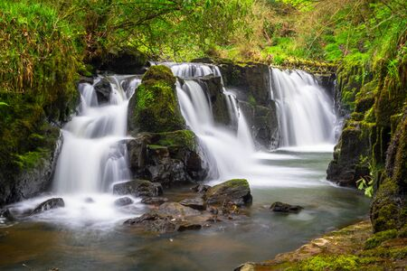 Beautiful cascades of Clare Glens in Ireland