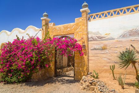 Architecture of the small village on the desert, Egypt