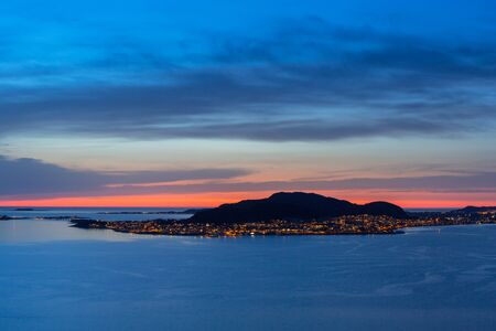 Valderoya island at sunset, Norway