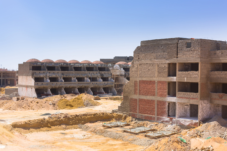 Building construction at the Red Sea in Egypt