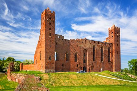 Ruins of medieval brick castle in Rydzyn Chelminski, Poland