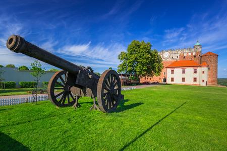 Cannon at the castle in Golub-Dobrzyn town, Poland Editorial