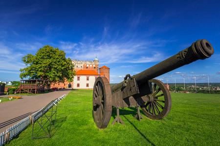 Cannon at the castle in Golub-Dobrzyn town, Poland Stock Photo
