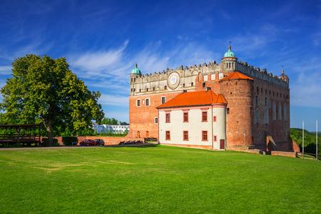 Teutonic castle in Golub-Dobrzyn town at sunny day, Poland
