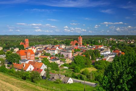 Beautiful Golub-Dobrzyn town at sunny day, Poland