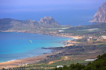 Beautiful Falassarna beach on Crete, Greece
