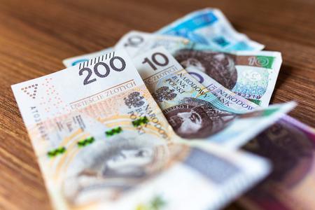 Stack of polish zloty banknotes Reklamní fotografie