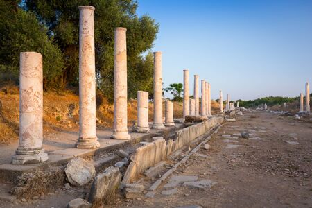 Ruins of the ancient city of Side, Turkey