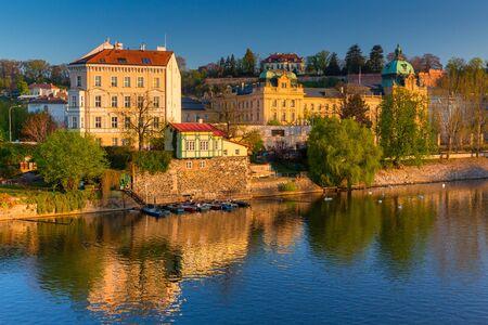 Beautiful old town in Prague at sunrise, Czech Republic