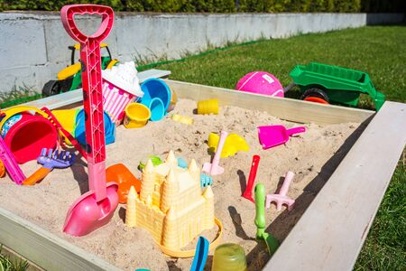 Garden playground for children with sandpit