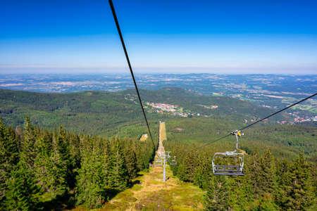 Ski lift to Mount Kopa in the Karkonosze Mountains, Poland