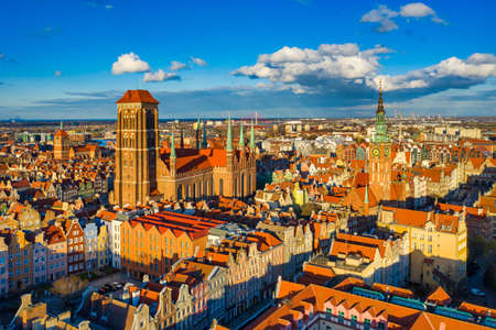 Beautiful architecture of the old town in Gdansk. Poland