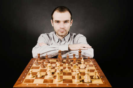 Man at chess board Stock Photo - 12683053