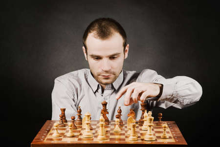 Man at chess board Stock Photo - 12661502