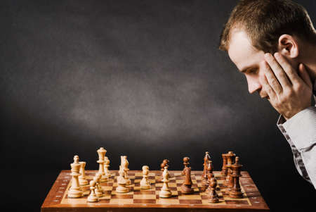 Man at chess board Stock Photo - 12661507