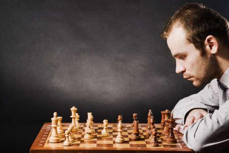Man at chess board Stock Photo - 12661513