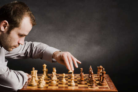 Man at chess board Stock Photo - 12661509