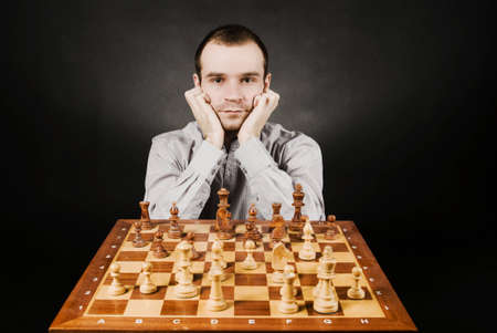 Man at chess board Stock Photo - 12661515
