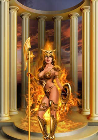 priestess: girl - a fan of Dragons
