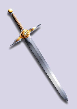 espadas medievales: espada - un rayo