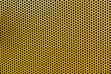sheet steel: yellow Steel mesh screen background and texture Stock Photo