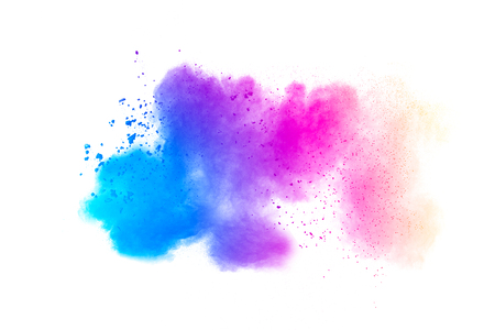 Multi color powder explosion  on white background. Banque d'images - 115991856