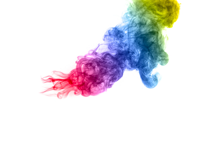 Multi color powder explosion  on white background. Banque d'images - 115992418
