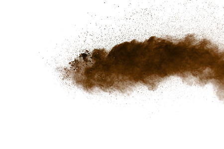 Multi color powder explosion  on white background. Banque d'images - 115992419