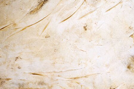 Old white leather background. Scratch line on white leather texture as background. 스톡 콘텐츠
