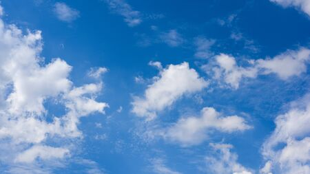 Blue sky with cloud background.White fluffy clouds in sunny day.