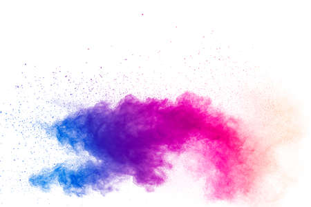 Explosion of colored powder, isolated on white background Foto de archivo - 152961523